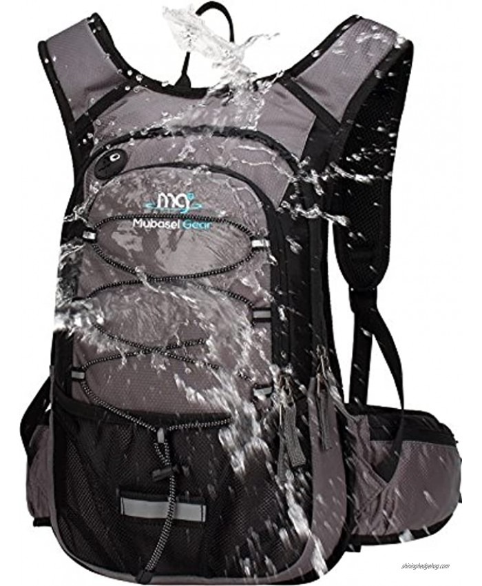 Mubasel Gear Insulated Hydration Backpack Pack with 2L BPA Free Bladder for Running Hiking Cycling Camping