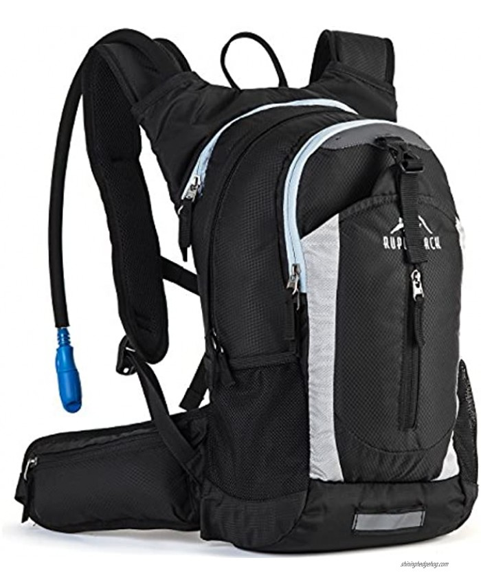 RUPUMPACK Insulated Hydration Backpack Pack with 2.5L BPA Free Bladder Lightweight Daypack Water Backpack for Hiking Running Cycling Camping Commuter Fits Men Women Kids 18L
