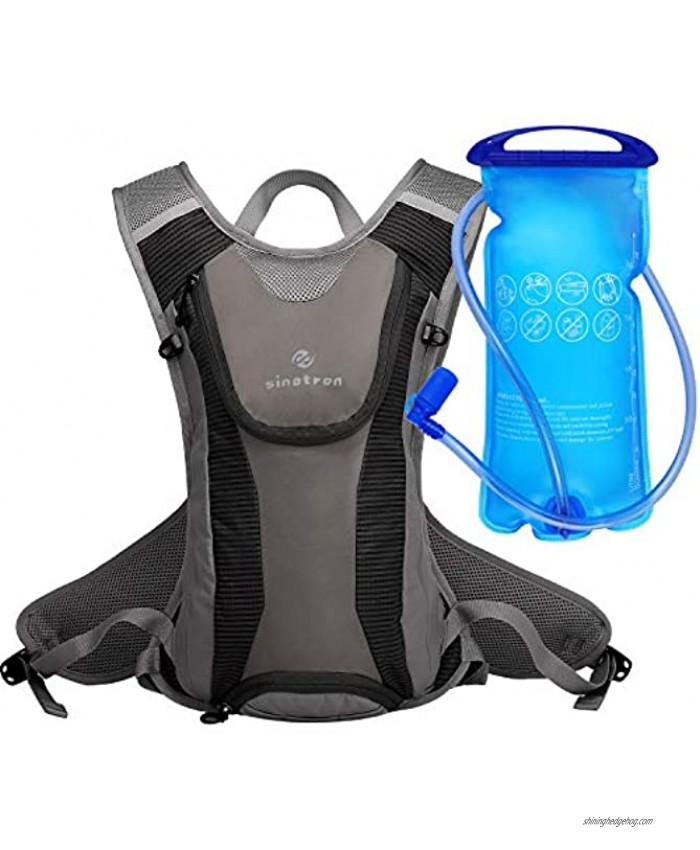 sinotron Insulated Hydration Backpack Pack with 2L Water Bladder Camelback Water Backpack for Hiking Running Cycling Camping Climbing