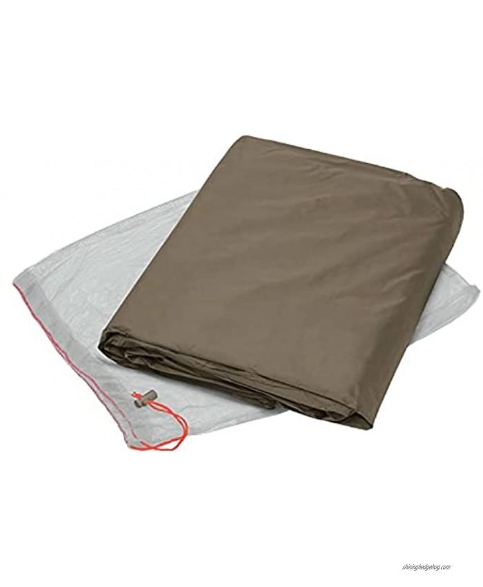 VAUDE Unisex– Adult's Low Chapel XT Tent Ground Sheet Bark 2P