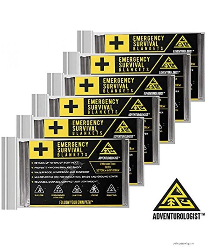 Adventurologist Emergency Blankets 6 Pack