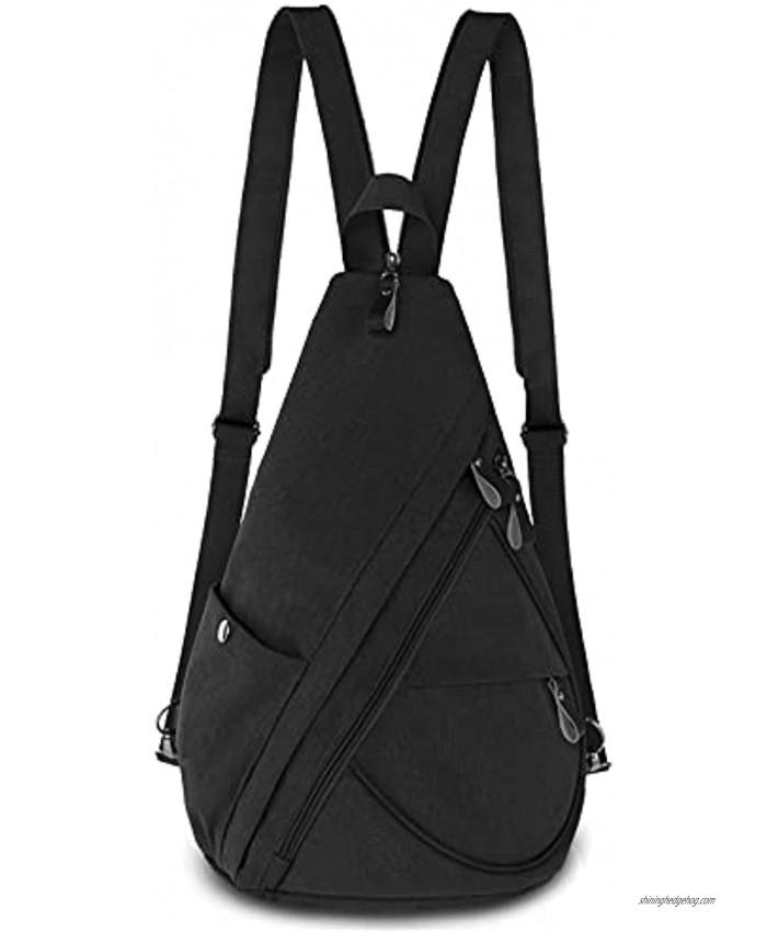 Sling Backpack Lovvento Chest Shoulder Bag Crossbody Backpack Small Hiking Casual Daypack Men & Women